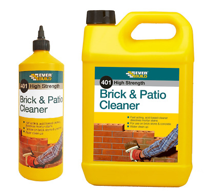 Everbuild 401 Brick And Patio Cleaner Acid Based Various Sizes