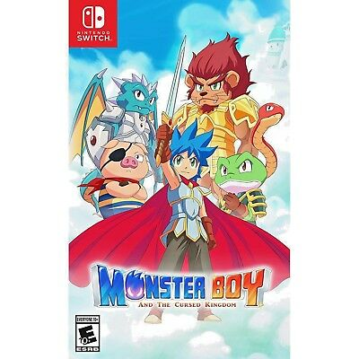 MONSTER BOY AND THE CURSED KINGDOM US SWITCH NEW SEALED Shipping from Europe