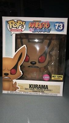 Funko Pop Animation #73 Naruto Shippuden Flocked Kurama Hot Topic Exclusive