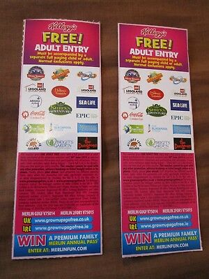 2 Free Adult Entry Merlin Voucher Codes To Alton Towers Legoland Sealife Thorpe