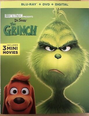 Dr. Seuss' The Grinch   Brand - New Factory Sealed Blu Ray + Dvd + Digital