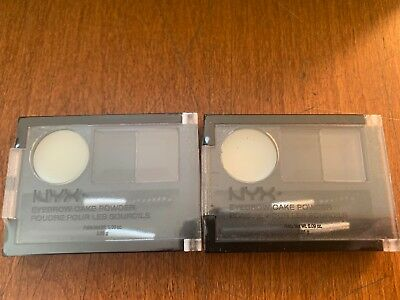 Nyx Eyebrow Cake Powder Ecp01 Black/Grey Lot Of 2