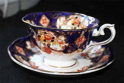 Vintage ROYAL ALBERT Bone China England HEIRLOOM Pattern #4534 Cup & Saucer