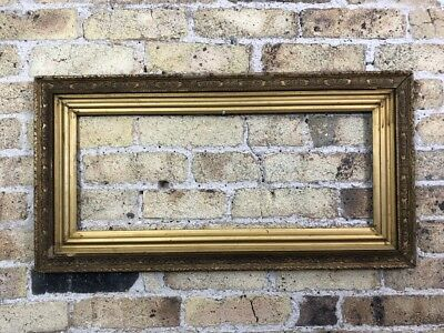 Antique Ornate Gold Gilt & Gesso Detail Wooden Picture Frame, Medium - Large