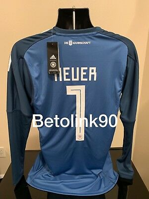 02d24fc7c ADIDAS GERMANY GOALKEEPER jersey NEUER HOME World Cup 2018 MEDIUM ...
