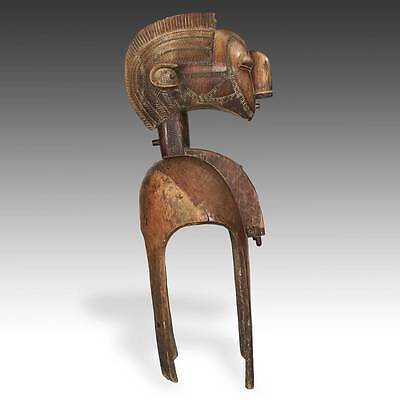 Monumental Nimba Fertility Shoulder Mask Carved Wood Baga Guinea W. Africa
