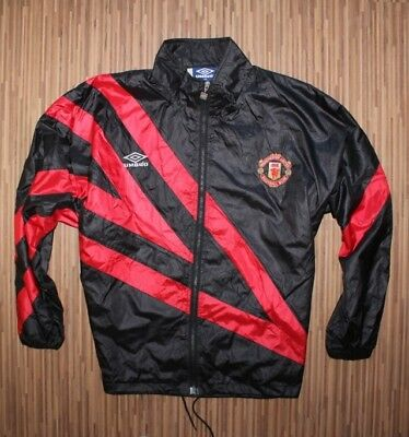 e5121488f7 VINTAGE MANCHESTER UNITED Sharp Umbro Padded Jacket / Coat Size XL ...