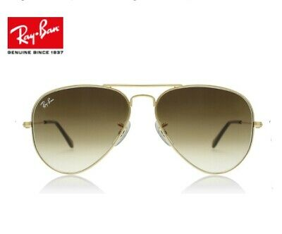 Ray Ban Aviator Classic RB 3025 001/51 Gold Sunglasses Crystal Brown 58mm