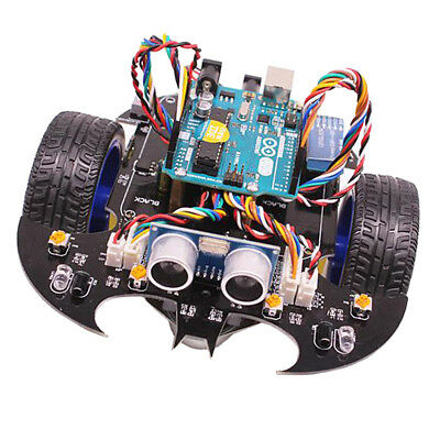 DIY Bat Smart Tracking Robot Car Electronic Kit With Reduction Motor Set