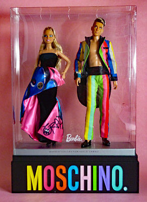 Moschino Barbie & Ken Gift Set - Nrfb With Slipcase - 2016