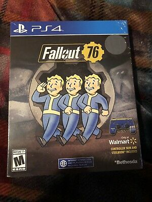 Fallout 76 EXCLUSIVE Edition with SteelBook & Controller Skin! PlayStation 4 ps4