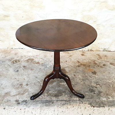 Georgian Mahogany Tilt Top Tripod Supper Table C1800 (George III Side Table)