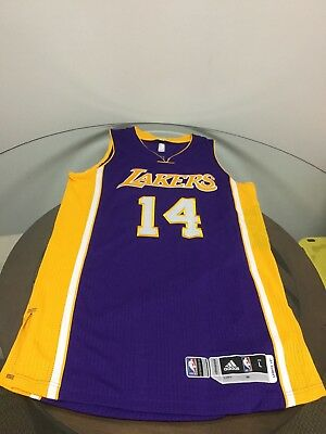 e3a37ca8864 Los Angeles Lakers Brandon Ingram Game Worn Team Issued Purple Adidas Jersey