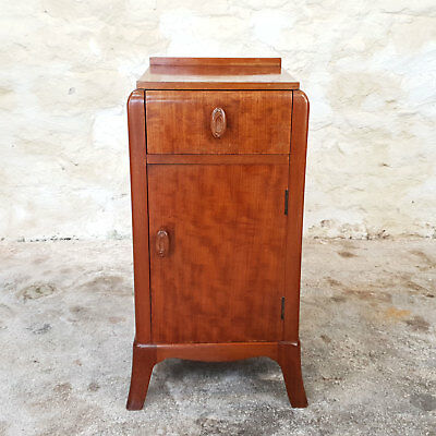 Art Deco 1920's Walnut Bedside Cabinet (Antique)
