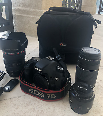 Canon EOS 7D 18.0MP Digital SLR Camera - Black - Body Only - GREAT CONDITION!