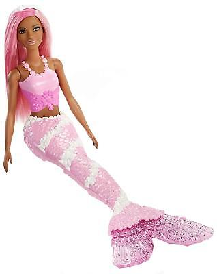 🚛Fast Shipping! {NEW} Barbie Dreamtopia Mermaid Doll 2 African American Pink