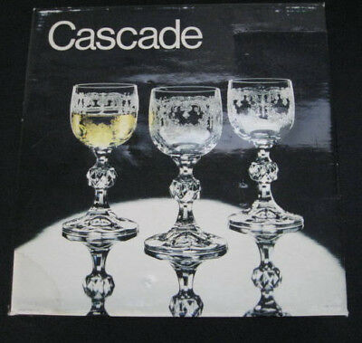 ~Set of 6 Cascade Cordials Bohemia Etched Crystal Glasses!