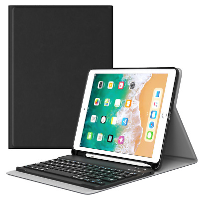MoKo Keyboard Case for iPad 9.7 2018 with Apple Pencil Holder - Wireless Cover /