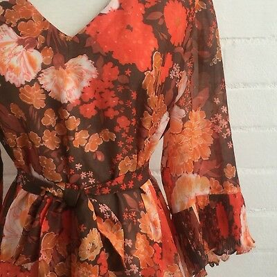 AWESOME Vintage Floral Retro 70's 60's Dress Costume Party Photoshoot