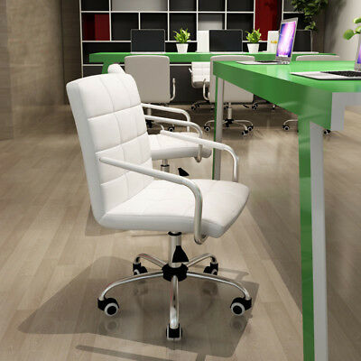 PU Leather Executive Home Office Business Computer High Back Chair White Black