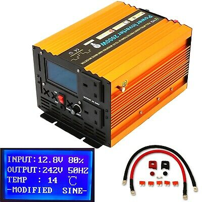 2000W, 3000, 3500W Dc12V/24V To Ac240V Intelligent Power Inverter Lcd Display
