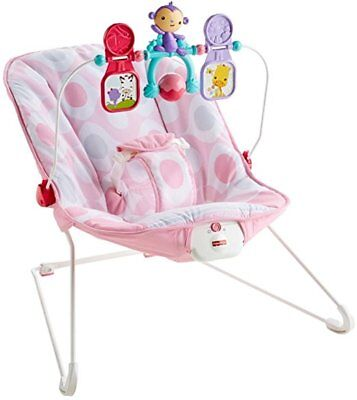 Fisher Price Baby Bouncer Pink Eclipse W/ Vib Cmr11 *New*