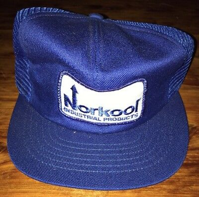 Vintage Rare Norkool Industrial Products Patch Logo Mesh Trucker Hat  Snapback e41c8aab788a