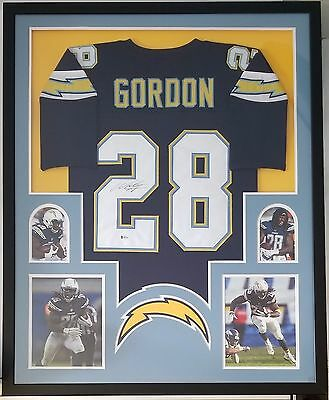 b36c8b83 MELVIN GORDON AUTOGRAPHED Signed Jersey Framed San Diego Chargers Beckett