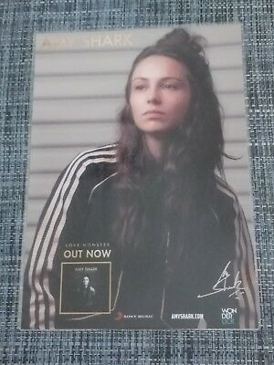 AMY SHARK - LOVE MONSTER -  SIGNED AUTOGRAPHED Promo Poster