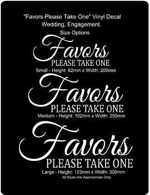 Favors Please Take One Wedding Decal Glass Mirror Wall Art Vinyl Removable(#271)
