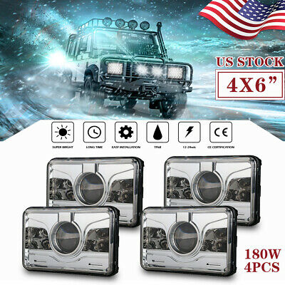 """LED Light 4x6"""" Projector DRL Sealed Hi-Lo Beam Assembly Fit Kenworth T600 W900L"""