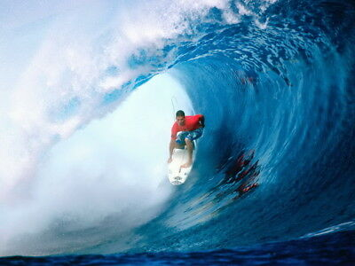 "001 GIANT WAVE - Sea Surfing 32""x24"" Poster"