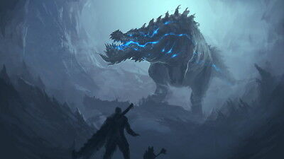 """006 Monster Hunter - Moster Fight Game 42""""x24"""" Poster"""