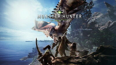 """008 Monster Hunter World - Moster Fight Game 42""""x24"""" Poster"""