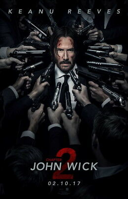 """011 John Wick Chapter 2 - Keanu Reeves 2017 Movie 24""""x37"""" Poster"""