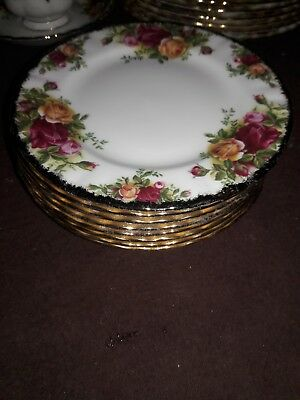 "Royal Albert Old Country Roses 1962 6"" Inch Bread Plate"