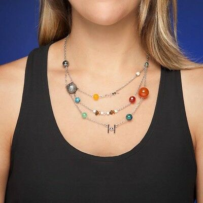 Exclusive Star Wars 9 Celestial Bodies Galactic Silver-Plated Stones Necklace