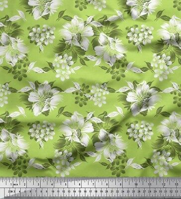 Soimoi Fabric Leaves & Floral Artistic Printed Craft Fabric by the Meter-AR-660F
