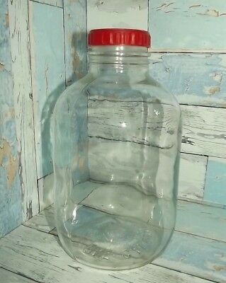 "Vintage Glass Jar No 10  ""J"" 1 Gallon Good Condition Value Priced $30 Shipped"