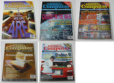 Australian Personal Computer (APC) Magazine (5 Issues from 1995)