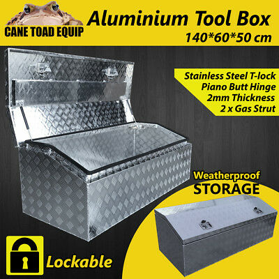 Aluminium Tool Box Storage Large w Lock Bar UTE Trailer Truck Heavy Duty Vehicle