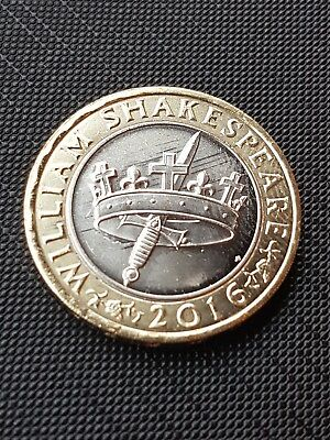 2016 Shakespeare Histories Crown & Dagger/Sword £2 Two Pound Coin 18047bd