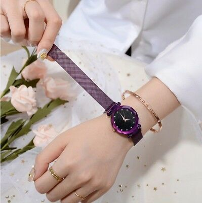 Women Magnetic Starry Sky Fashion Diamond  Quartz Wristwatches