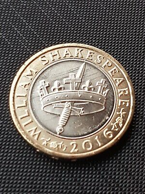 2016 Shakespeare Histories Crown & Dagger/Sword £2 Two Pound Coin 18048g