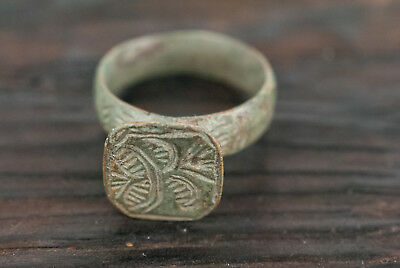 Ancient Ring Bronze Medieval Era c.1500 AD Middle Age Crusades Antique Jewelry