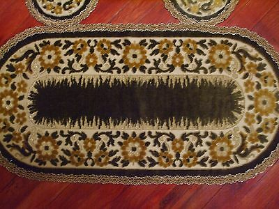 VICTORIAN TOPPER ART VELVET 3-PCS TAPESTRYBelgian raised DECOR &METALLIC lace