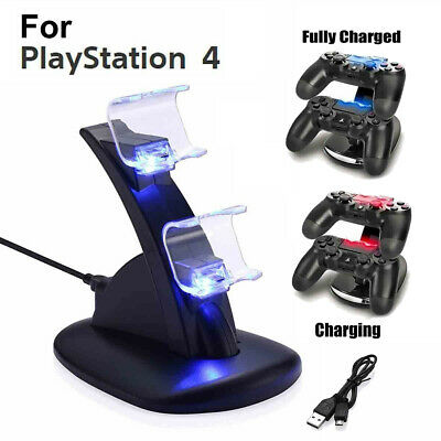 For PlayStation PS4 Dual Controller USB Charger Dock Station Fast Charging Stand