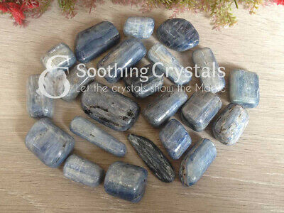 1/2 lb Lot of Kyanite Tumbled Stones Polished Tumbles Crystal Tumbles