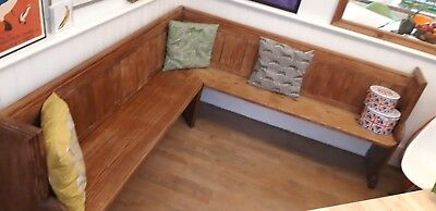 Prime Antique Church Pew Corner Bench Solid Wood 201 00 Creativecarmelina Interior Chair Design Creativecarmelinacom