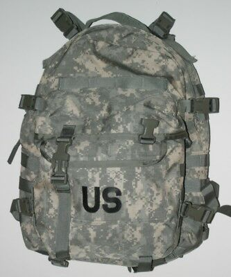US MILITARY ARMY ACU ASSAULT PACK 3 DAY MOLLE BACKPACK w/ Stiffener BUGOUT VGC